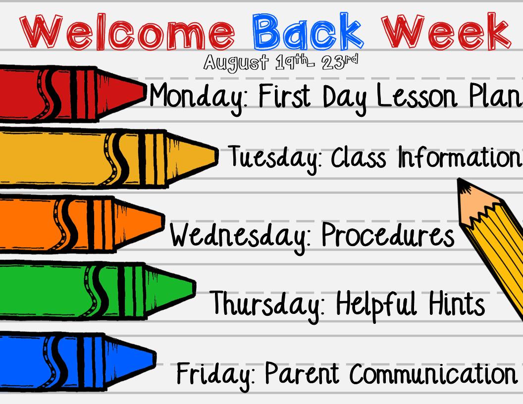 Welcome Back Week: Helpful Hints