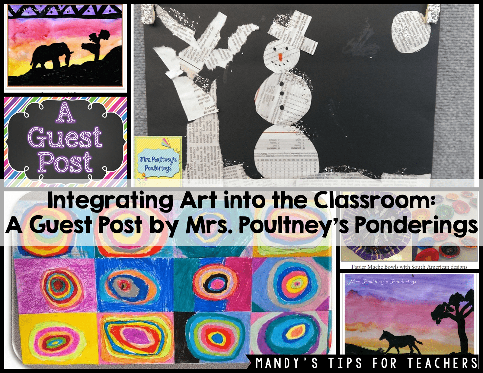 Intergrating Art into the Classroom: A Guest Post by Mrs  Poultney's