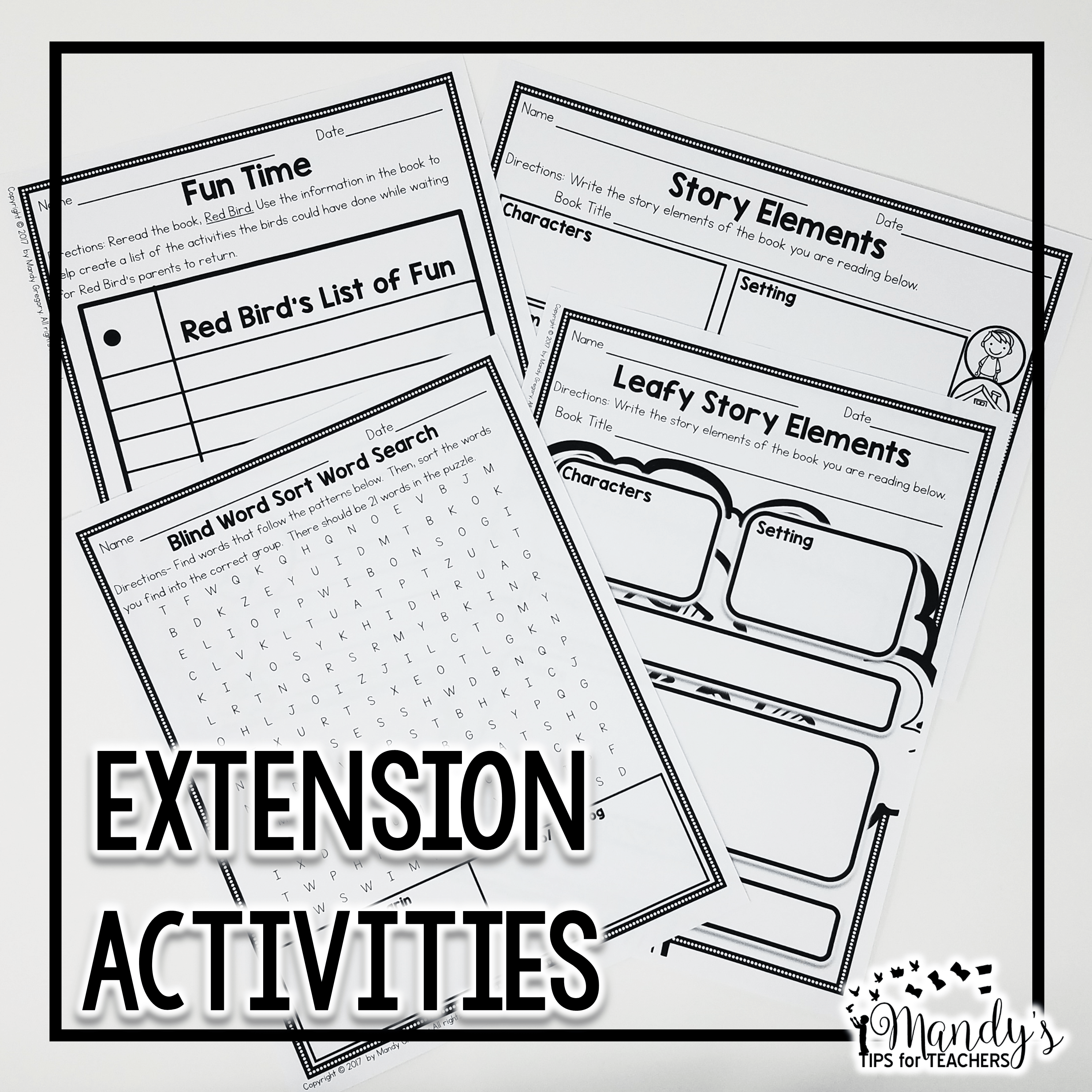 extension activities for Mastering Guided Reading Vol 1 texts