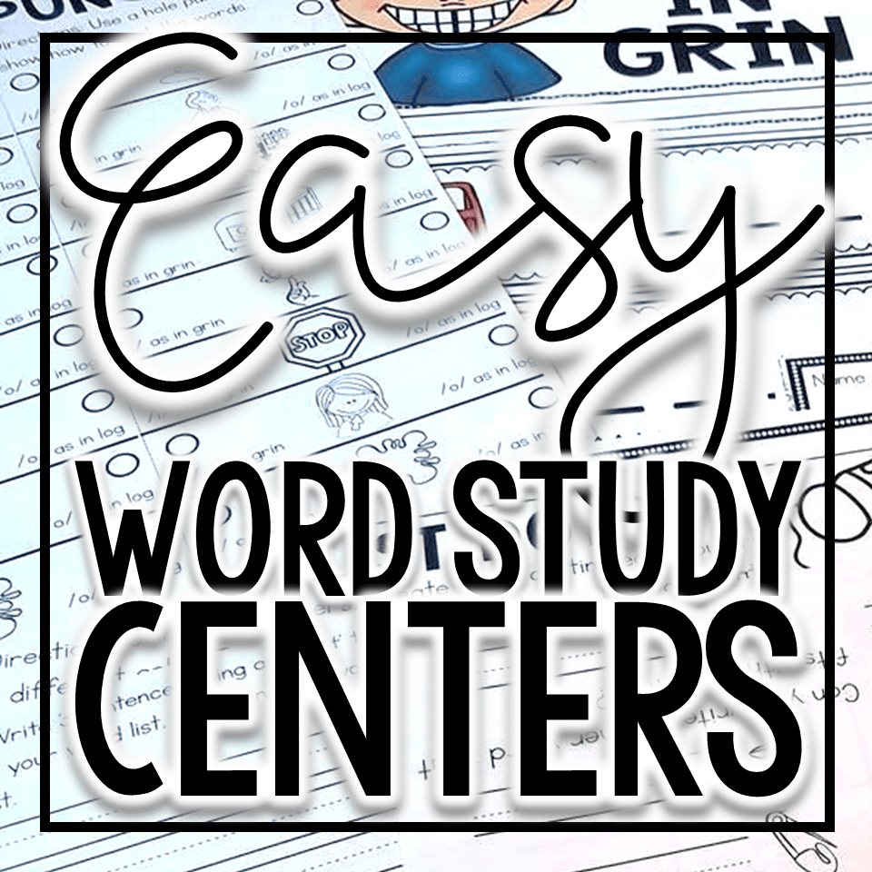 easy word study centers for Mastering Guided Reading Vol 1