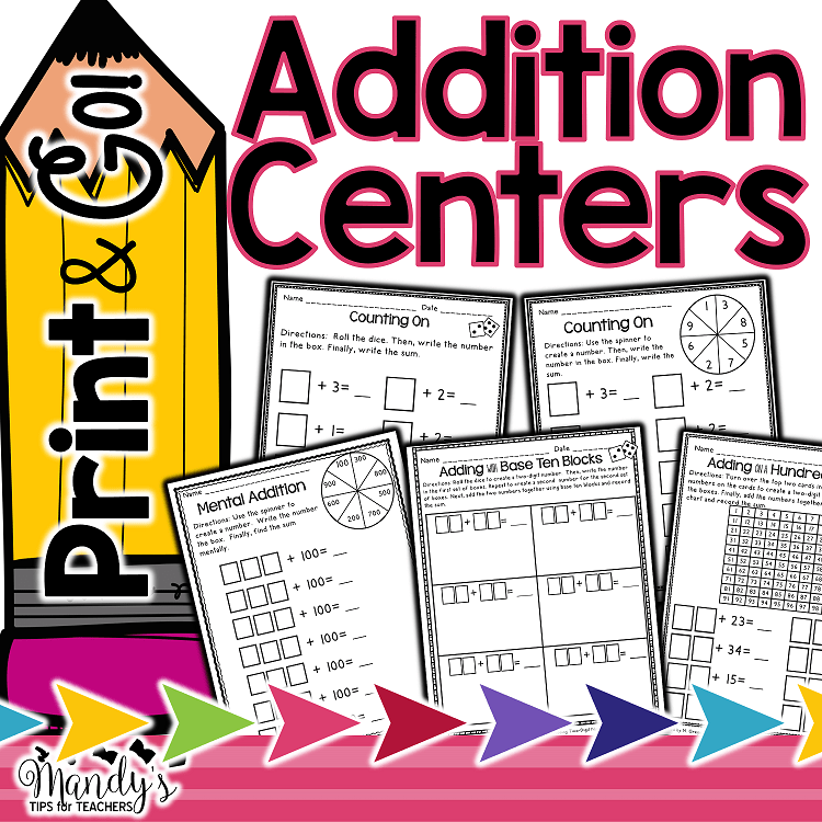 Print and Go! Addition Centers