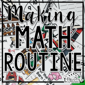 EASY Math Centers: Making Math Routine