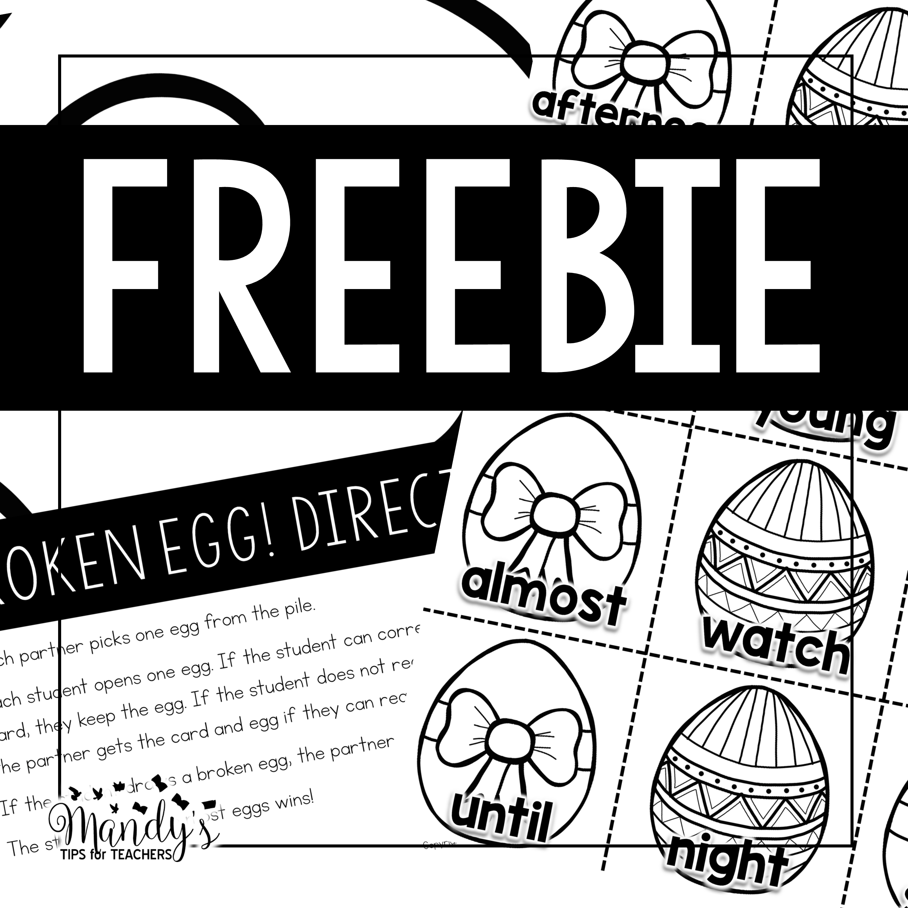 Fun with plastic eggs FREEBIES!