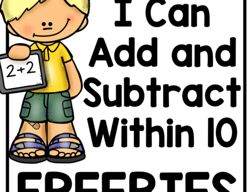Adding and Subtracting Within 10 FREEBIES